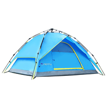 AOTU Outdoor Camping Hiking Waterproof Tent Double Layer for 3-4 Person – Blue