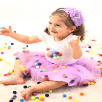 Baby Girls Tutu Skirt Sets Summer Toddler Girls Clothing Sets Cottons Flower Tshirt Sets for Girls Party Ballet Dance Skirt
