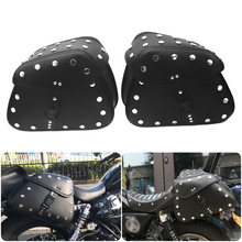 Motorcycle saddle bag side storage triangle bag waterproof sports version storage tool triangle bag Black Buckle rivet medium two tone buckle decor saddle bag