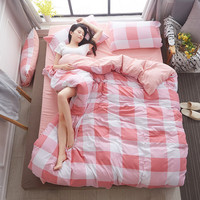 Pretty 4 Pieces Bedding Sets Colorful Umbrella Duvet Cover Set Pillowcases Flat Sheets King Size Bed