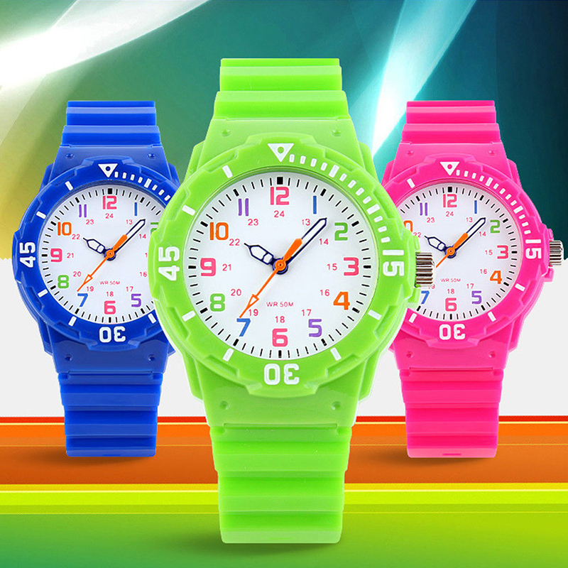 Children Sport Watch Fashion Casual Men Women Quartz Watches Waterproof Jelly Kids Watches For Boys Girls