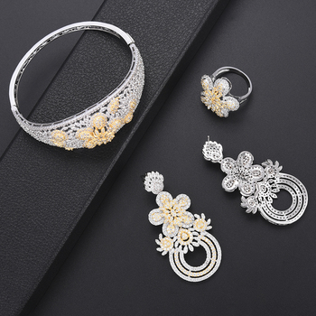 Luxury Flower turkish jewelry set 4