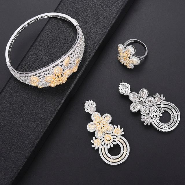 Luxury Flower turkish jewelry set 4