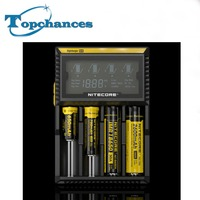 High Quality Nitecore D4 Universal Battery Charger with LCD Display 18350/18650/26650/AA