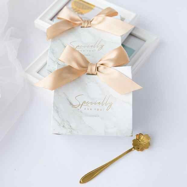 20 шт Мрамор специально для Вас свадебной Конфетница для вечеринки непроданный товар, подарок коробка Подарки Коробки мешок конфет дня + ленты