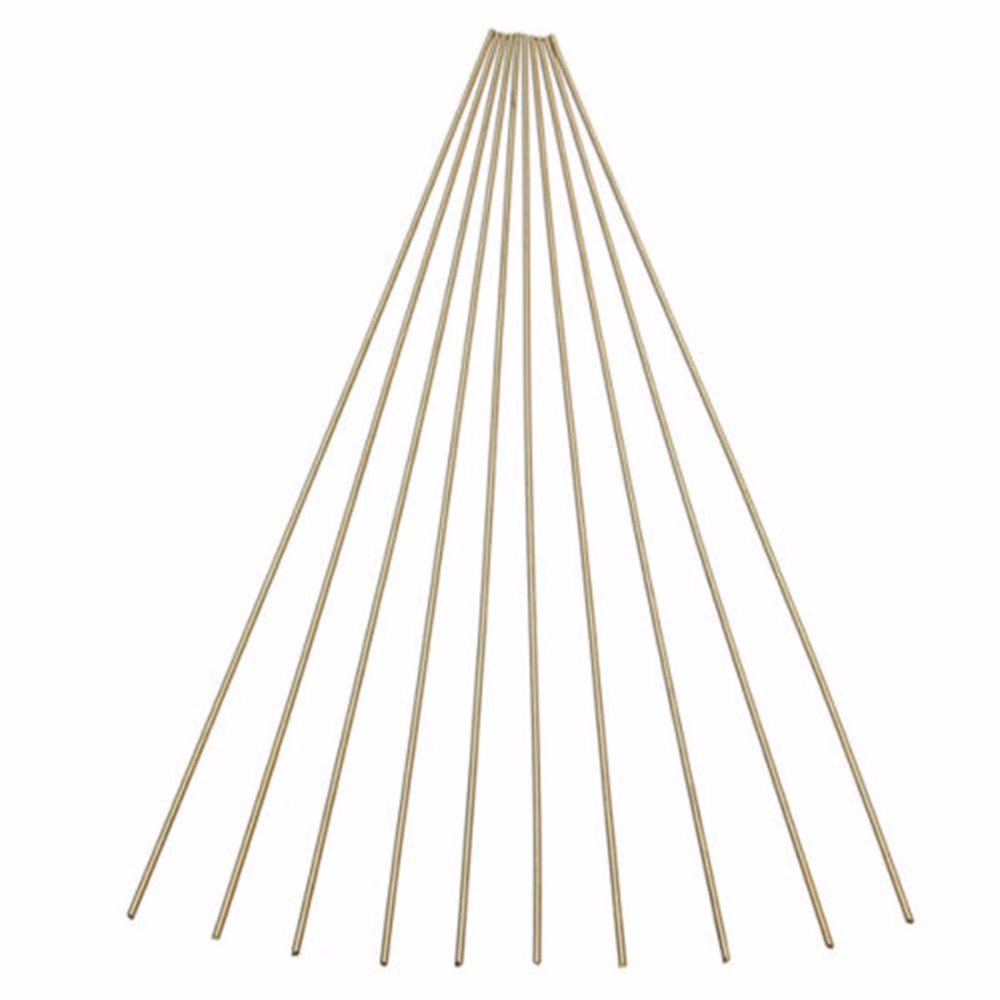 10pcs New Brass Rods Wires Sticks 1.6x250mm Gold For Repair Welding Brazing Soldering