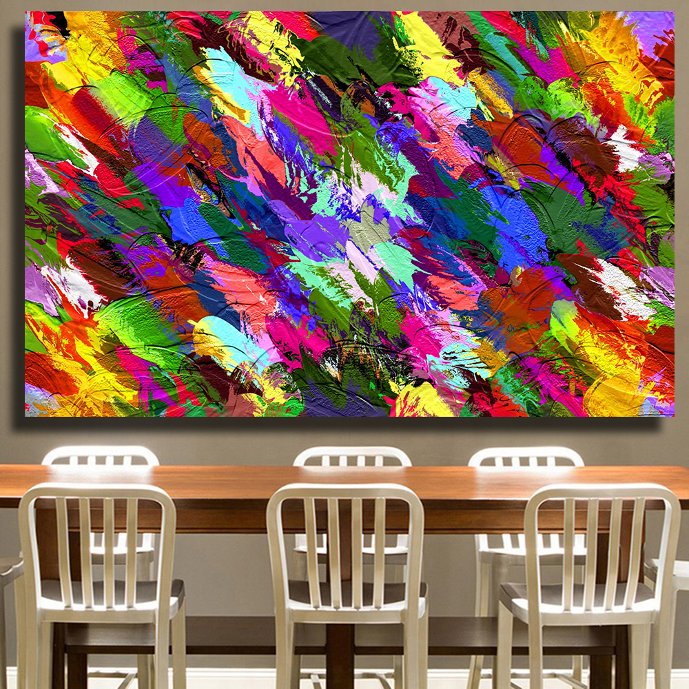 Splash Colorful Room Wall: AAVV Color Splash Wall Art Oil Painting Reproduction Art