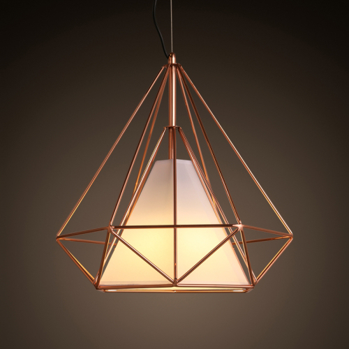 ikea lighting pendants rose gold nordic ikea american iron birdcage diamond antique retro industrial diy metal cage ceiling lamp light pendant