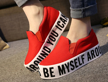 New Nice Women Platform Shoes Letter Print Thick Bottom women s slip on Casual Shoes Woman