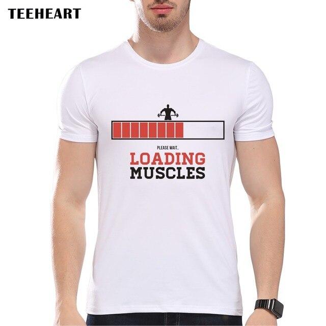ac4eab18 TEEHEART Fashion muscle Loading Funny T Shirt short sleeve o-neck men T  shirts Novelty Gift PA506