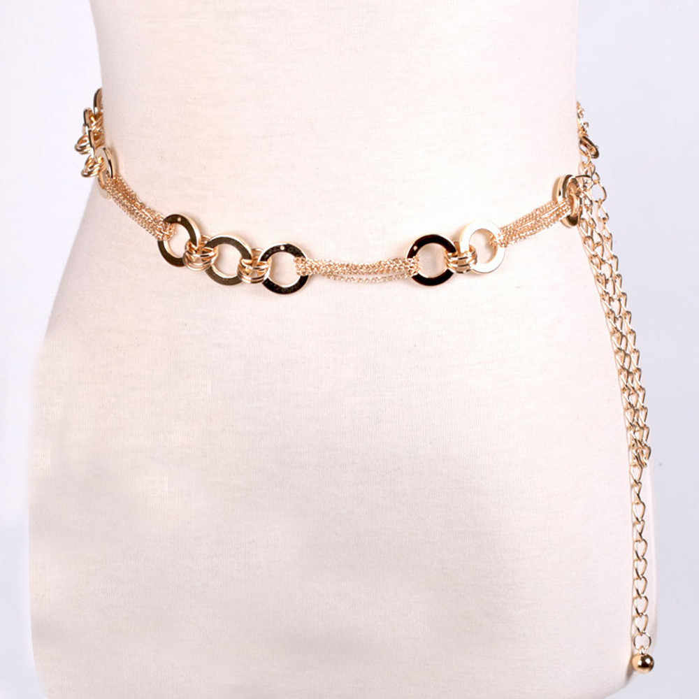 ChamsGend Women's Lady Fashion Metal Chain Style Belt Body Chain belts for women A2#