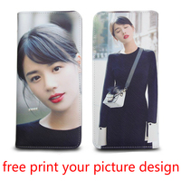 picture custom photo free print design wallet ultra thin personality customized manual DIY adult birthday gift girl women wallet