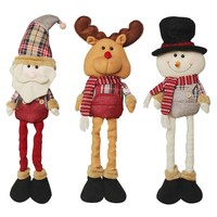 2017 1 Pcs Hot Sale Elastic Santa Claus Snowman Reindeer Doll Christmas Decoration Xmas Tree Hanging