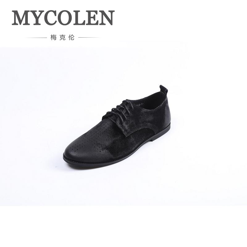 MYCOLEN New Branded Casual Shoes For Men Brogue Shoes Summer Dress Men Lace Up Pointed Toe Man Shoes Calzado Hombre Cuero new branded men s casual full grain leather oxfords shoes wedding dress shoes handmade business lace up brogue shoes for men