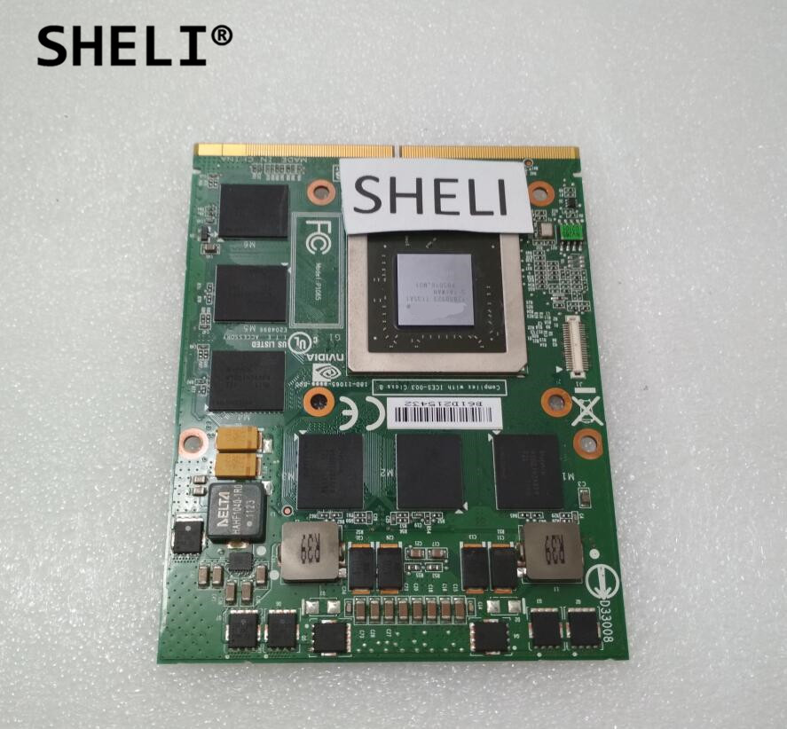 SHELI For M17X R2 Laptop YT99J CN-0YT99J N12E-GS-A1 GTX560M GTX 560M 1.5G DDR5 MXM 3.0 VGA Video Graphics Card видоискатель для фотоаппарата sony fda v1k