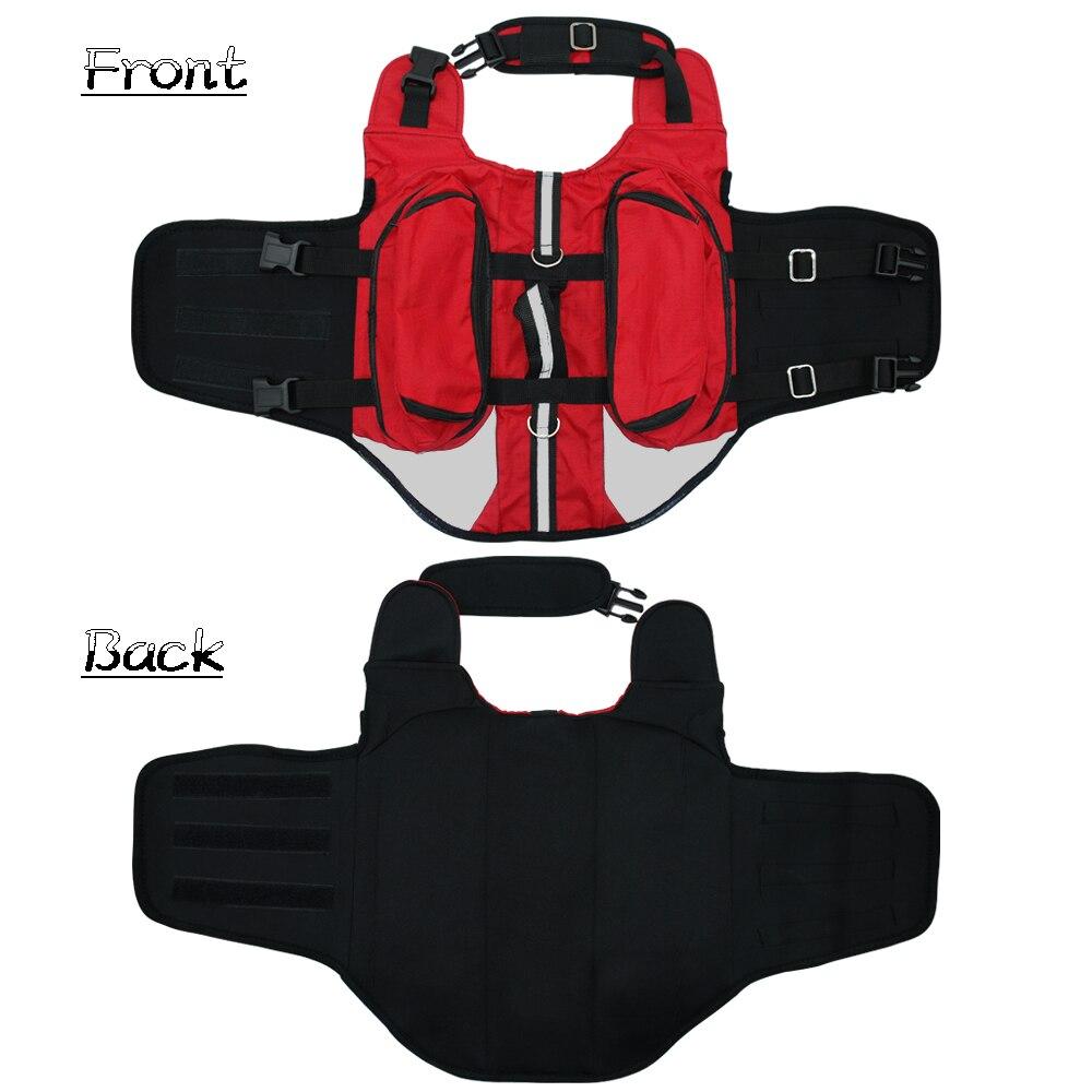 Dog BackPack Harness Pet K9 Hound Outdoor Vest Harnesses Travel Camping Hiking Backpack Saddle Bag Carrier for Medium Large Dogs