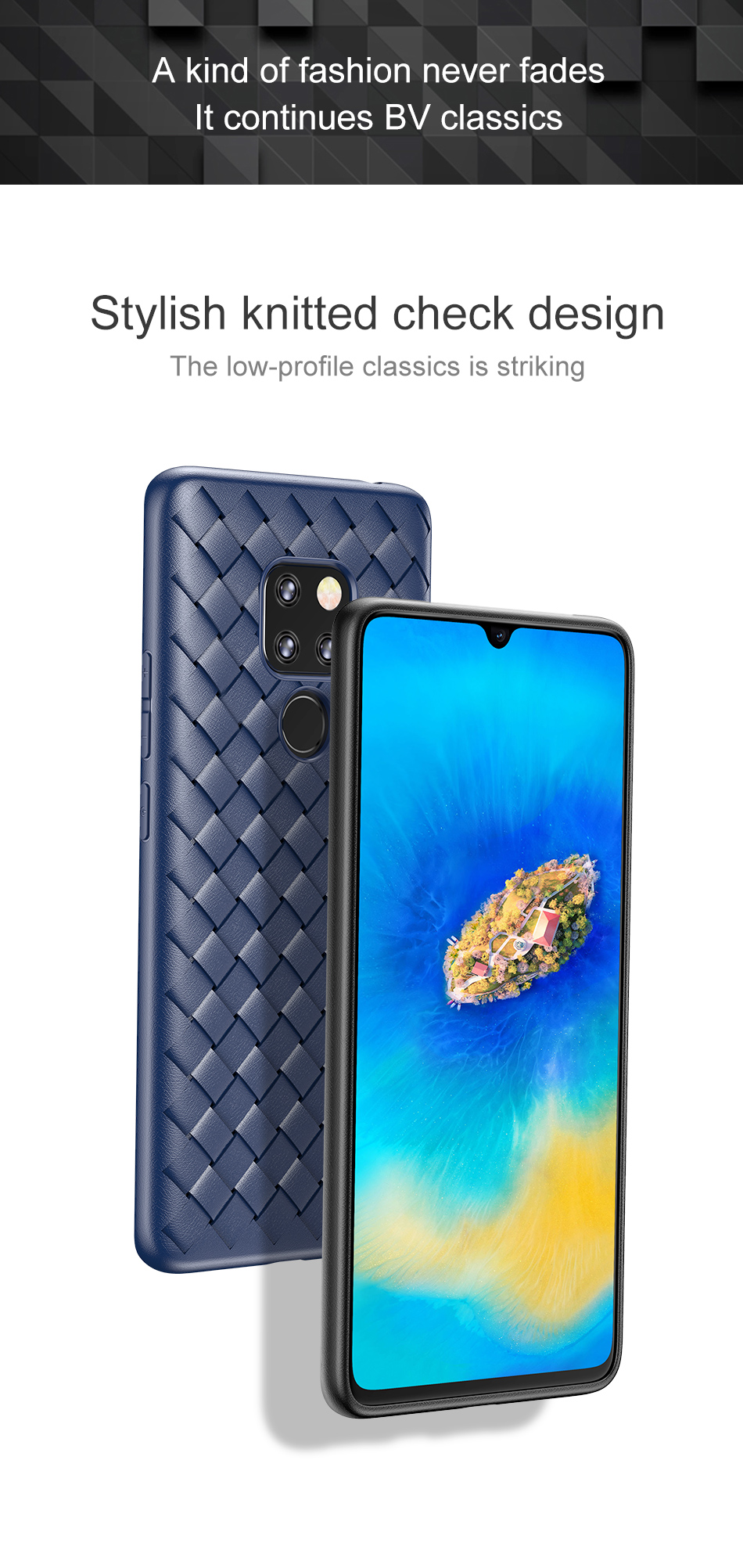 Weaving Grid Pattern Silicone Case For Huawei Mate 20 20 Pro