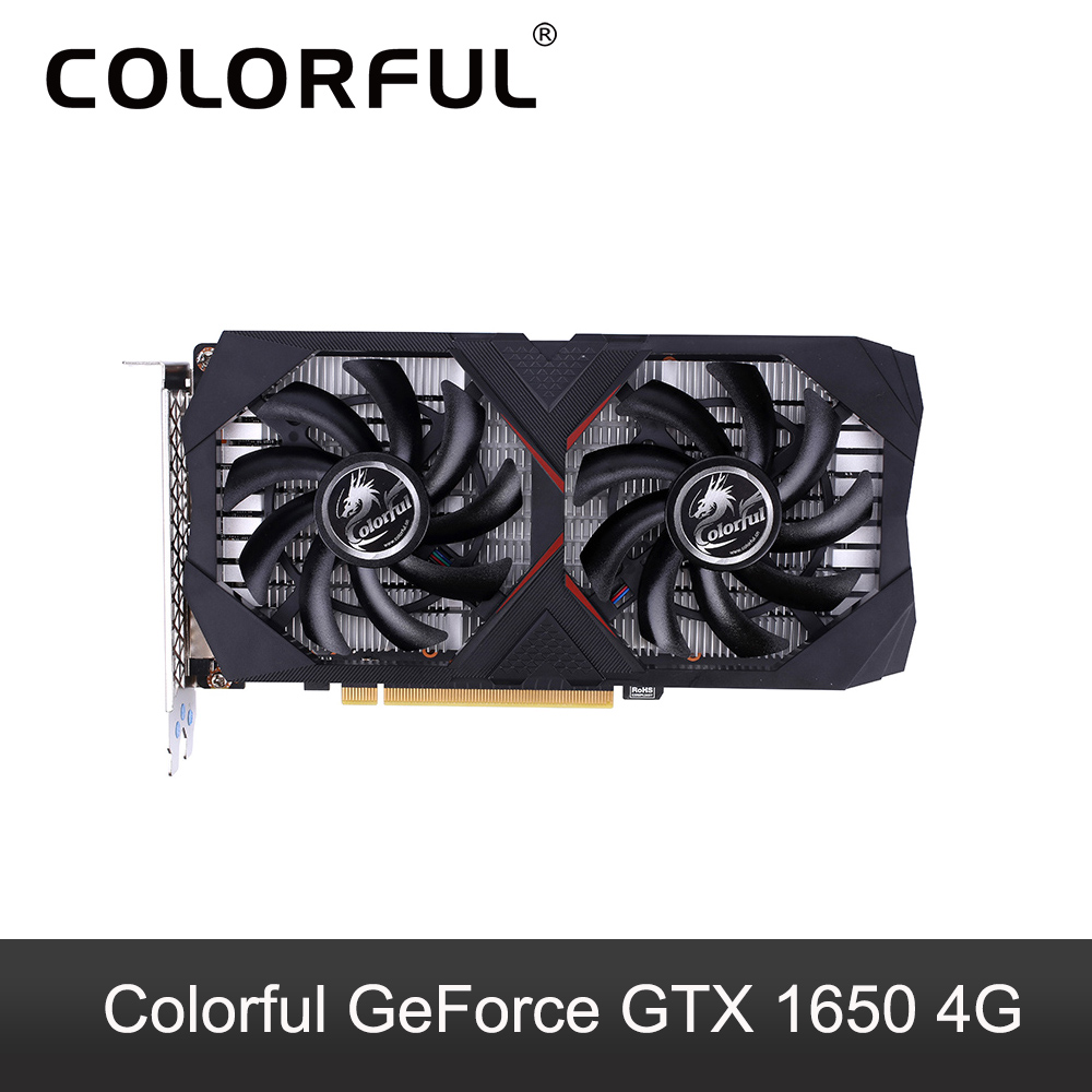 Colorful GeForce GTX 1650 4G Graphic Card GPU GDDR5 NVIDIA PCI E3 0 Video Card DP