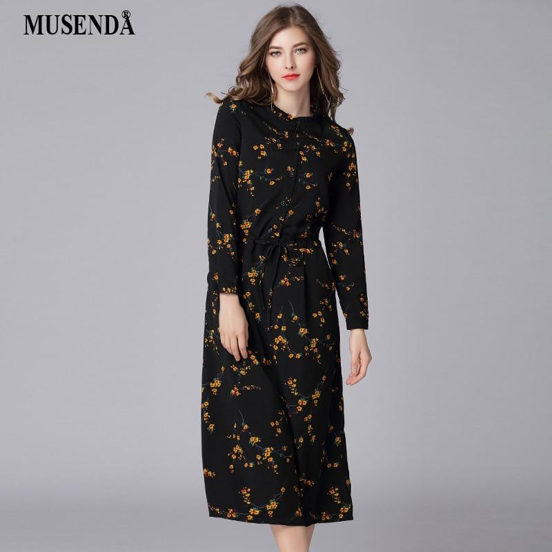 e06305e0d7a Detail Feedback Questions about MUSENDA Plus Size Women Black Chiffon Print  Drawstring Waist Long Dress New 2018 Spring Female Party Dresses Vestidos  Robe ...