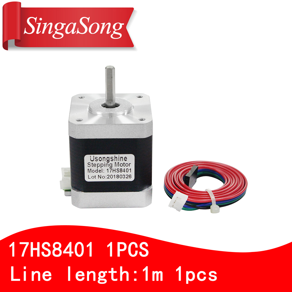 1PCS 4-lead Nema17 Stepper Motor 42 motor 17HS8401 1.7A CE ROSH ISO CNC Laser and 3D printer motor with DuPont line