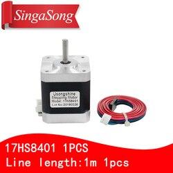 1PCS 4-lead Nema17 Stepper Motor 42 motor 17HS8401 1.7A CE ROSH ISO CNC Laser and 3D printer motor with DuPont line