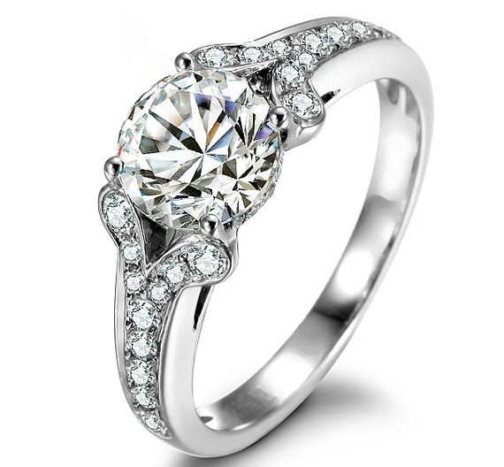 2ct Famous Brand Whole Fine Jewelry Synthetic Diamonds Ring For Women Wedding Engagement Sterling Silver