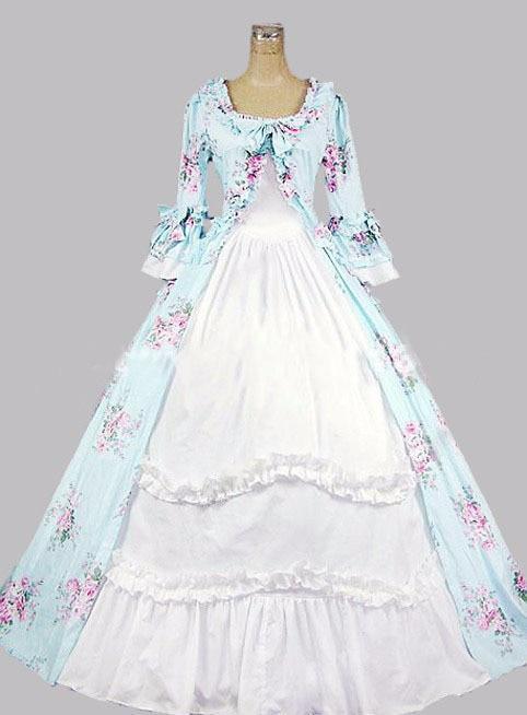 2015 vintage disfraces gótica medieval renacimiento reina floral print vestidos southern belle vestido de bola de