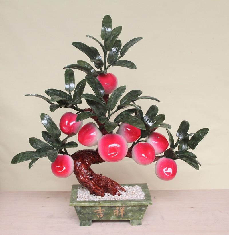 9 peach tree bonsai jade jade crafts jewelry Home Furnishing living room decoration Peach-Shaped Mantou gifts
