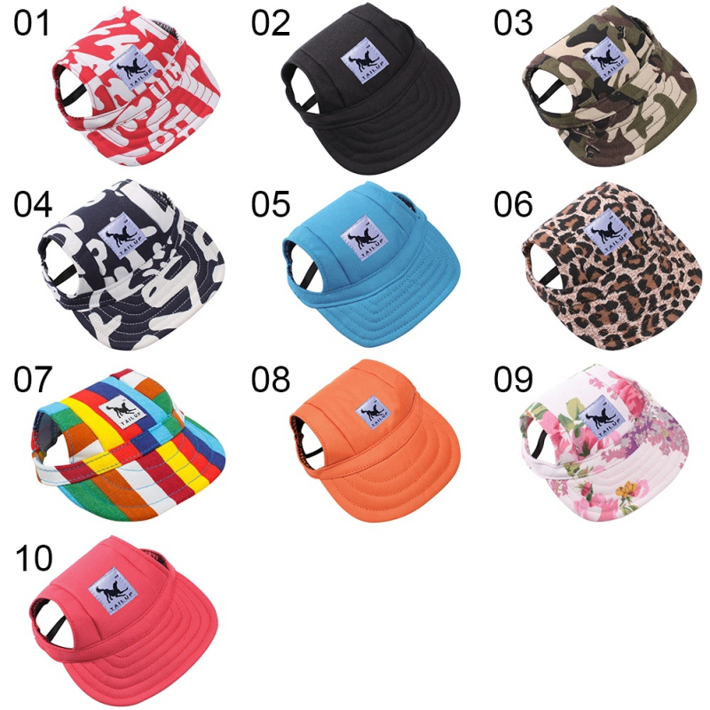 [TAILUP] Dog Hat fashion design Pet product Sports Baseball Cap multicolored Oxford Cloth breathable handsome Cool Doggie py0017 (9)