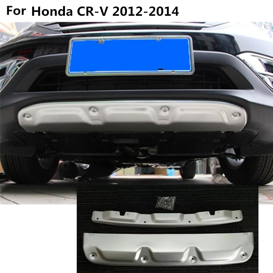 Car ABS chrome Front Back rear Bumper tailgate pedal Strip trim plate lamp threshold 2pcs For Honda CRV CR-V 2012 2013 2014 high quality front rear car auto shock absorber spring bumper power cushion buffer for honda cr v