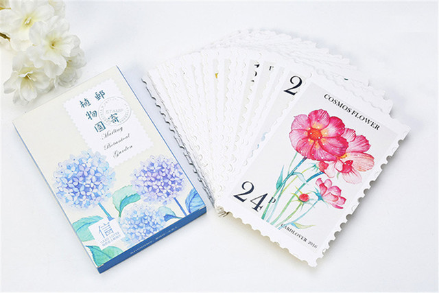Aliexpress Buy 30sheetspack Pretty Watercolor Hand Drawing – Creative Birthday Card Messages