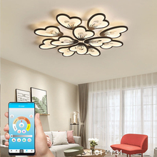Modern led chandelier APP with remote control acrylic lamp for living room bedroom kitchen home chandelier ceiling