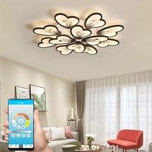 Moderno led lustre app com controle remoto lâmpada de acrílico para sala estar quarto cozinha casa lustre teto