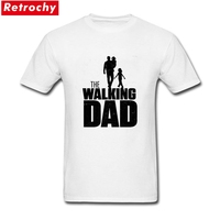 2017 Latest Short Sleeves Male Summer The Walking Dad T Shirt Round Neckline Distressed Letter Father