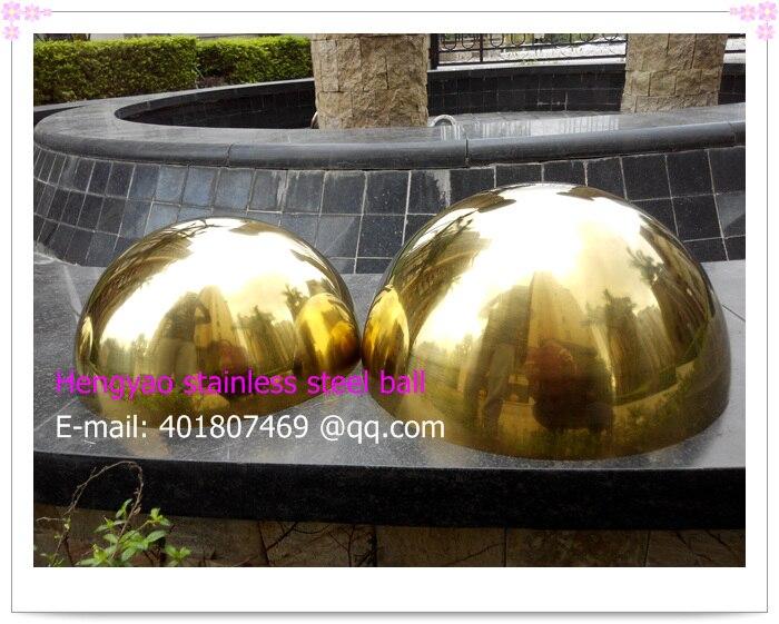 63 Mm Diameter, 201 Stainless Steel Gold Hemisphere, Hollow Hemisphere, Metope Adornment,plating Titanium