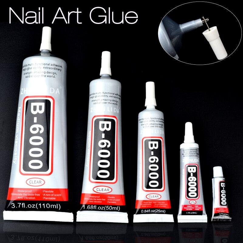 Nail art glue nail rhinestones decoration adhesive tools for Decoration porte adhesive
