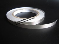 1x 10mm 20 Meters Silver Adhesive Conductive Fabric Tape For PC Phone Cable Wraping Electromagnetic Masking