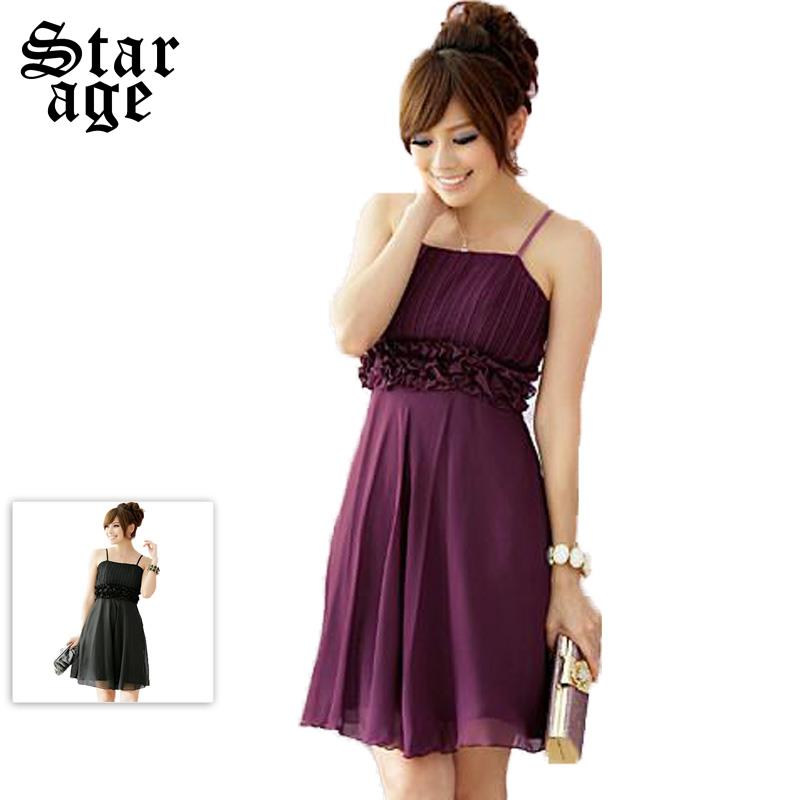 L 3XL Fashion Plus size formal dress Short Dinner Dress knee length ...