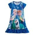 Anna&elsa Dress Children Cosplay Clothing Baby Girls Elsa Dress Kids Girls Princess Party Dresses Nightgown Cartoon Clothes