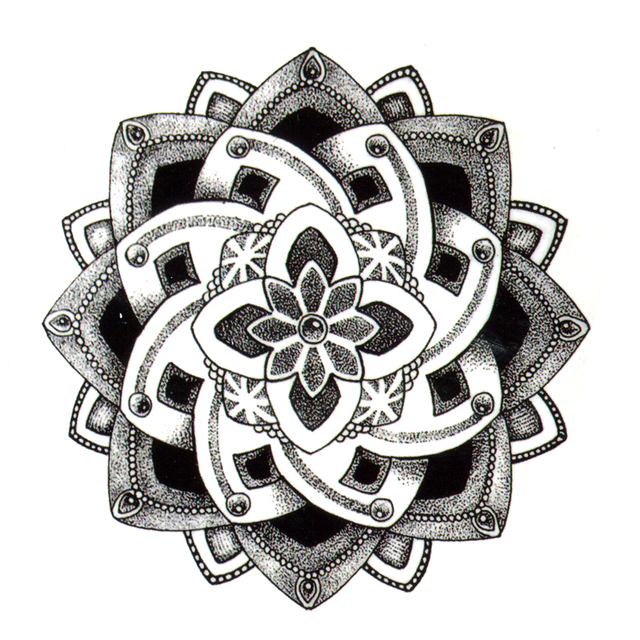 Beautiful Henna Flower Tattoo