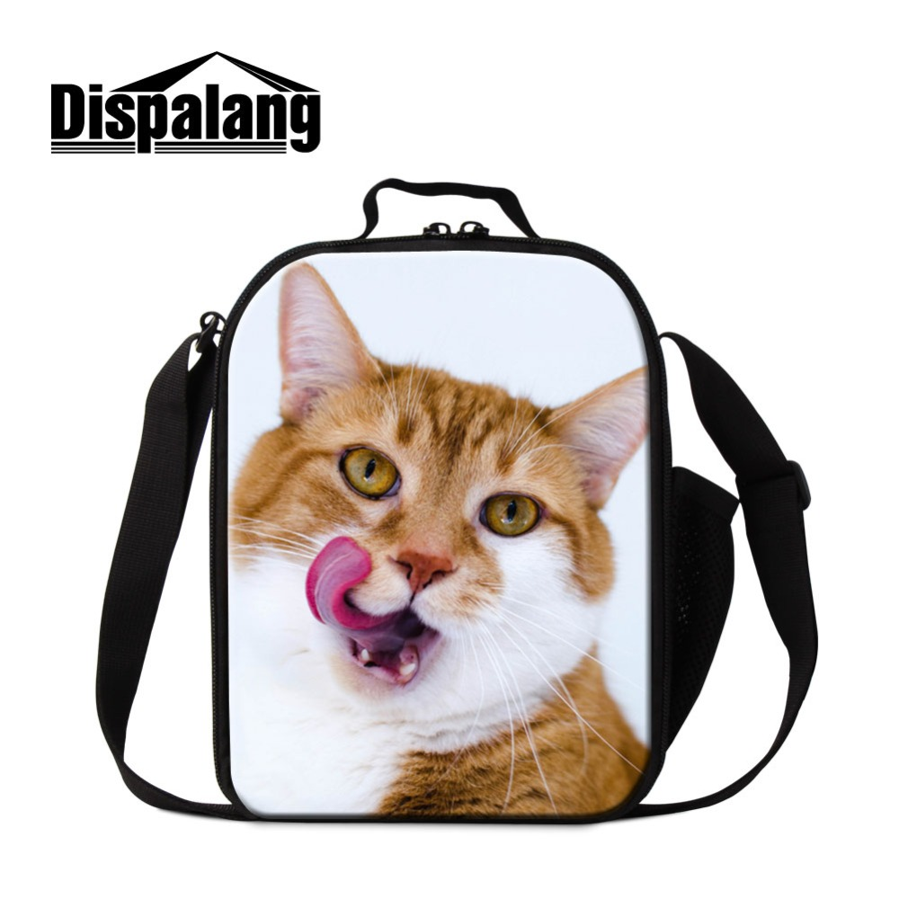Animal Cat Pattern Cooler Lunch Bags For Children Thermal Food Picnic Lunchbox Women Bolsa Termica Lancheira Kids Meal Lunch Bag