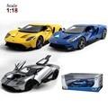 Maisto Ford GT Modelo De Coche 1:18 Aleación Funde y Automóviles de Juguete Juguetes Colección de Juguetes Para Niños de Regalo