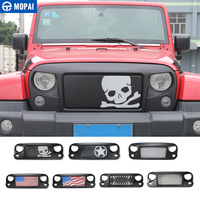 MOPAI ABS Avenger Car Front Racing Grilles Cover Decoration Exterior Accessories For Jeep Wrangler JK 2007 2016 Car Styling
