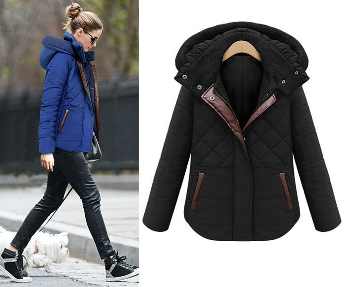 2015 Fashion Winter Jacket Women Plaid Hooded Thick Parka Ladies ...