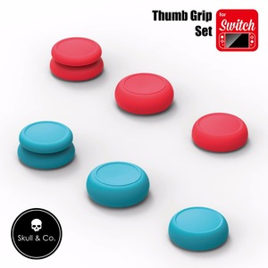 Image 4 - Skull & Co 6 in 1 Thumb Grip Set Joystick Cap Cover for Nintend Switch Joy Con Controller