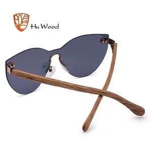 Image 5 - Hu 우드 새로운 패션 선글라스 남자 여자 나비 태양 안경 자연 나무 프레임 무테 운전 낚시 uv400 gr8025