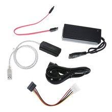 A movimentação de sata/pata/ide ao cabo do conversor de usb 2.0 para hdd com cabo externo do adaptador de alimentação suporta a instalação do sistema operacional via cd