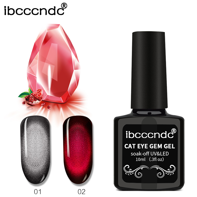 New 3D Gem Cat Eye Nail Gel Varnish Magnetic Gel Soak off UV Gel Polish Holographic Lacquer 10ml Semi Permanent Gellak Nail Set elite99 3d magnetic cat eye gel polish soak off nail art