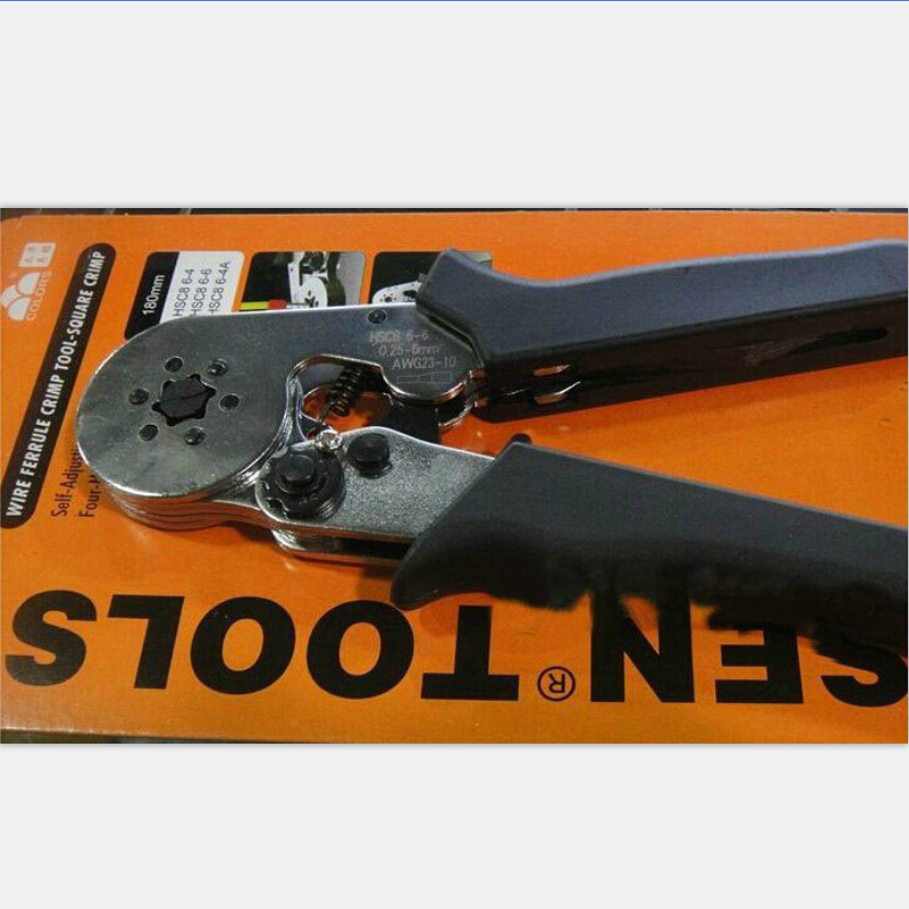 HSC8 6-6 0.25-6 mm2  crimping tools for wire end sleeves high quality multi-function crimping pliers tube crimping pliers 6