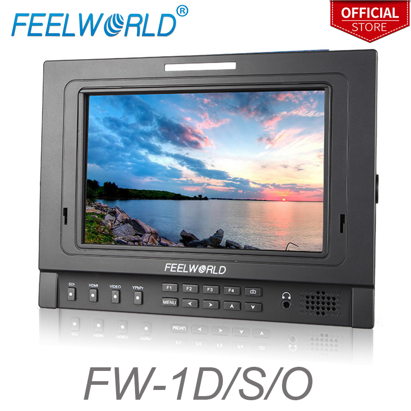 цена на Feelworld FW-1D/S/O 7 Inch IPS Field Monitor with Tally Peaking Focus Color Histogram 3G-SDI DSLR Camera External LCD Monitors